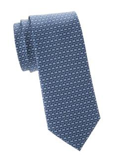 Ferragamo Owl-Print Silk Tie