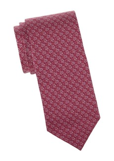 Ferragamo Paperclip Turtle Silk Tie