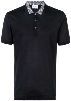 Ferragamo patterned collar polo shirt