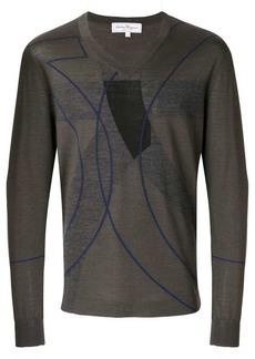 Ferragamo patterned V-neck jumper