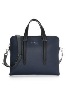 Ferragamo Pebbled-Leather Laptop Bag