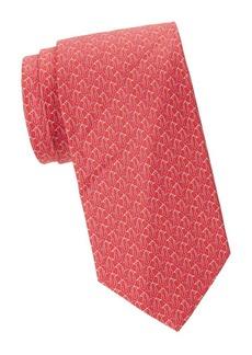Ferragamo Penguin-Print Silk Tie