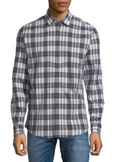 Ferragamo Plaid Cotton Button-Down Shirt