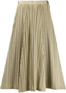 Ferragamo pleated A-line skirt