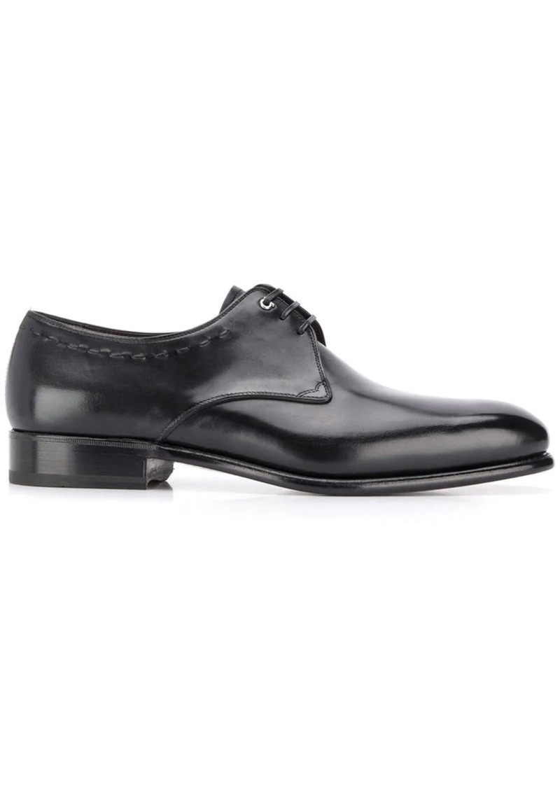 Ferragamo pointed derby shoes
