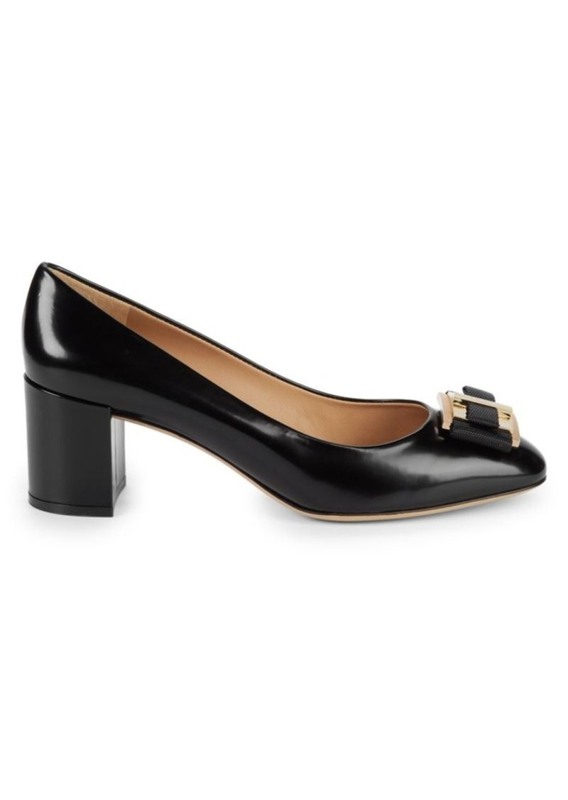Ferragamo Prato Leather Pumps