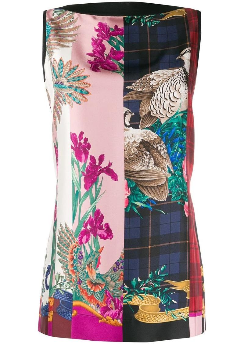 Ferragamo printed front sleeveless top