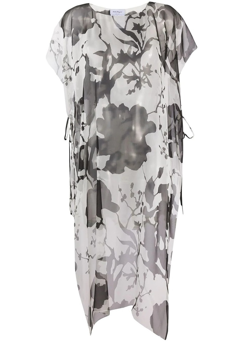 Ferragamo printed long-line blouse