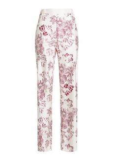 Ferragamo Printed Silk Pants
