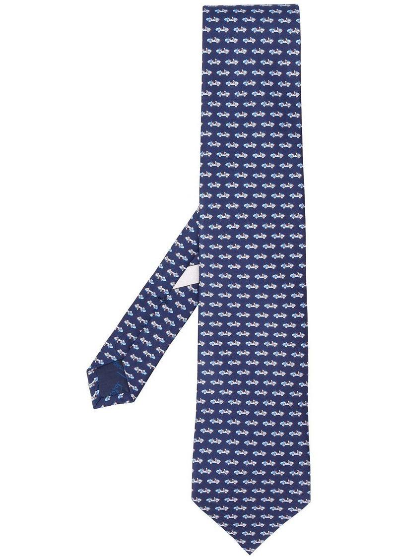 Ferragamo printed tie