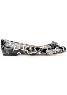 Ferragamo printed Vara ballerina shoes