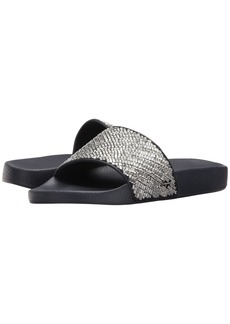 Ferragamo PVC Pool Slide With Crystals