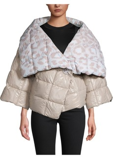 Ferragamo Quilted Printed Down Jacket