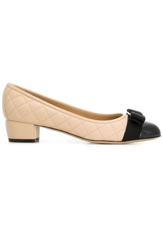 Ferragamo quilted two-tone pumps