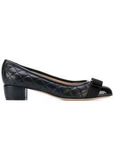 Ferragamo quilted Vara bow pumps
