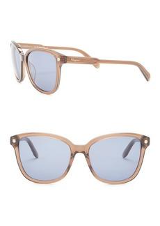 Ferragamo Retro 56mm Acetate Frame Sunglasses