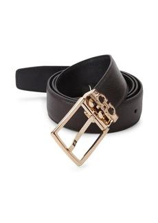 Ferragamo Reversible Textured Leather Belt