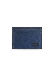 Ferragamo Revival Gancini Leather Card Case