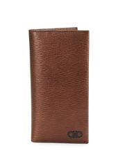 Ferragamo Revival Gancini Textured Leather Breast Pocket Wallet