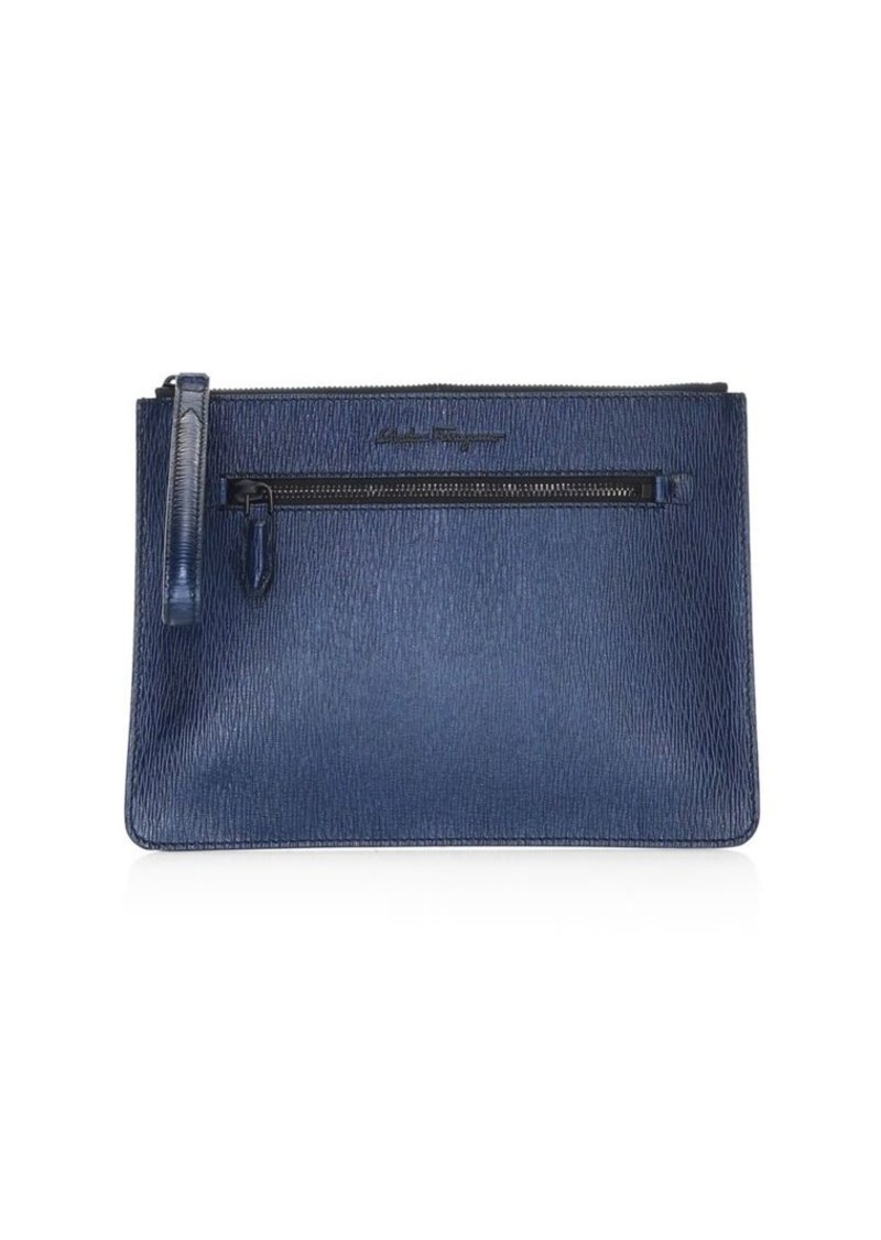 Ferragamo Revival Leather Document Holder