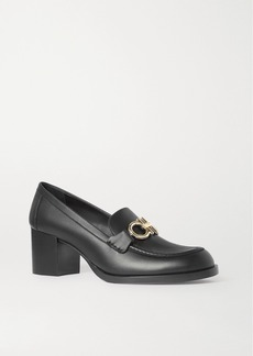 Ferragamo Rolo Embellished Leather Loafers