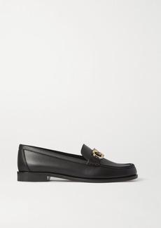Ferragamo Rolo Embellished Leather Loafers
