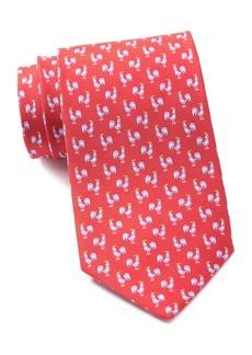 Ferragamo Rooster Print Silk Tie