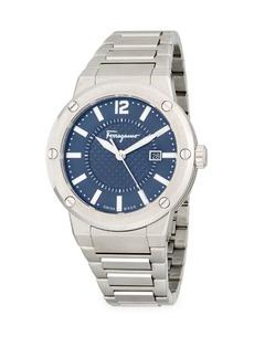 Ferragamo Round Stainless Steel Bracelet Watch