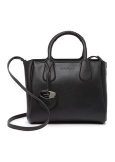 Ferragamo Royal Double Mini Leather Tote Bag