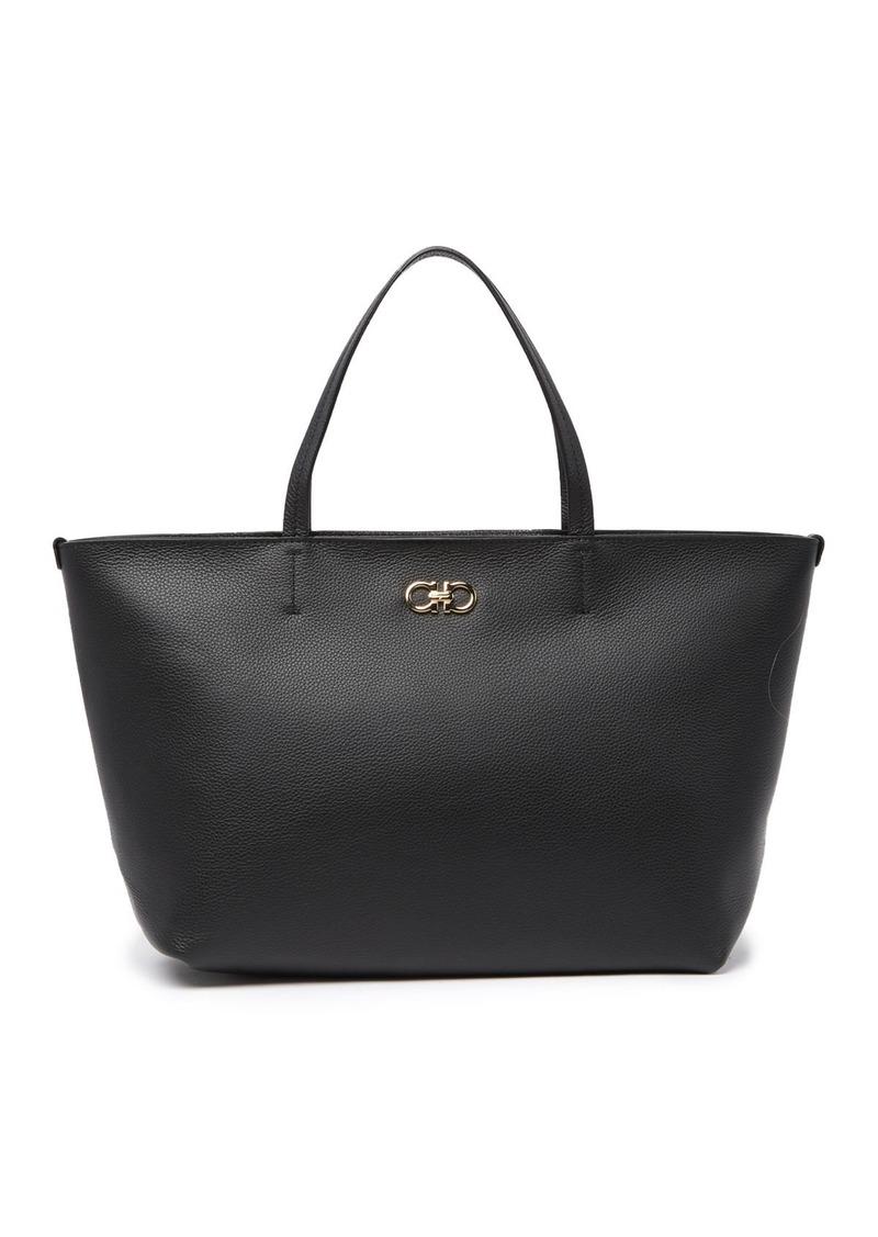 Ferragamo Safari Leather Tote Bag