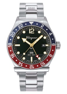Salvatore Ferragamo 1901 Sport Bracelet Watch, 44mm