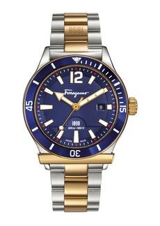 Ferragamo 43mm 1898 Two-Tone Bracelet Watch