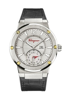 Ferragamo 44mm F-80 Motion Leather Smartwatch