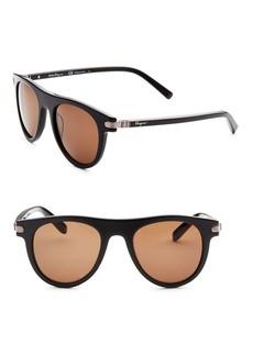 Ferragamo 51MM Round Sunglasses