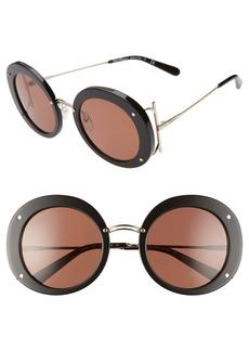 Salvatore Ferragamo 52mm Gancio Round Sunglasses
