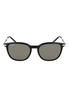 Salvatore Ferragamo 52mm Round Sunglasses