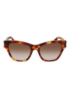 Salvatore Ferragamo 53mm Gradient Rectangle Sunglasses
