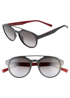 Salvatore Ferragamo 53mm Round Sunglasses
