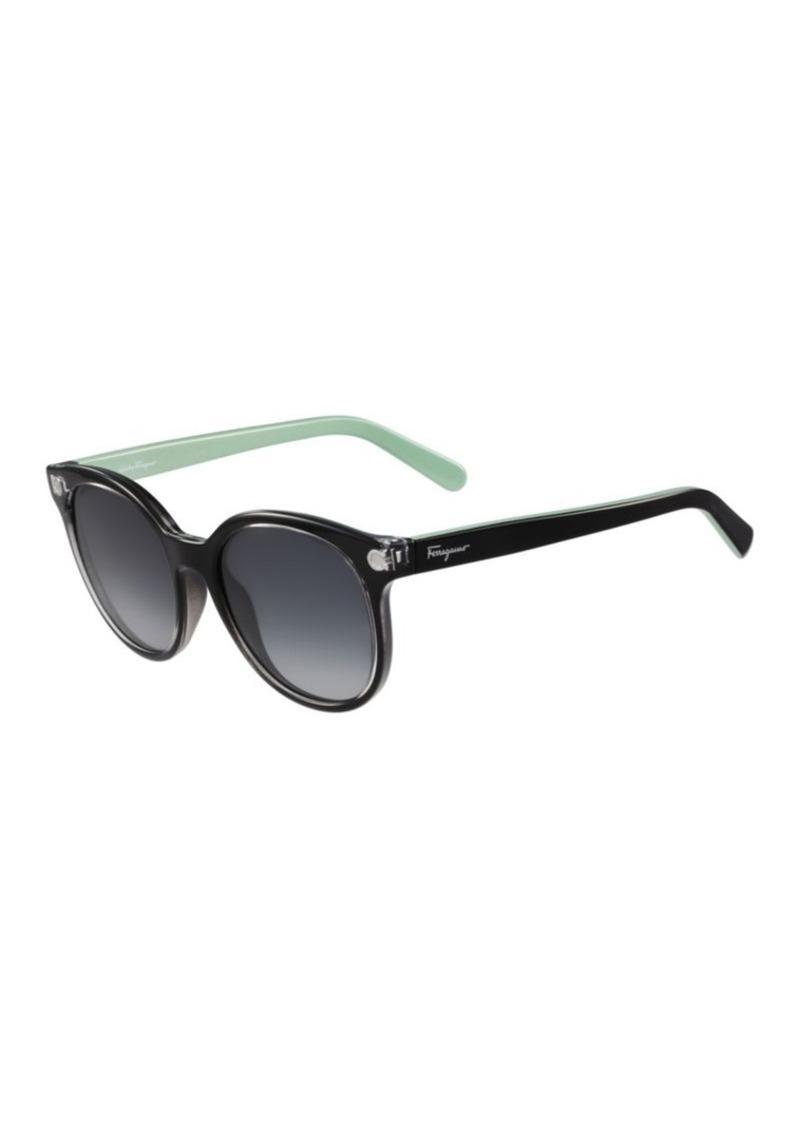 2a49f1c3ebc Ferragamo Salvatore Ferragamo 53mm Round Wayfarer Sunglasses ...
