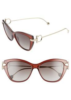 Salvatore Ferragamo 55mm Cat Eye Sunglasses
