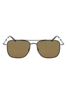 Salvatore Ferragamo 56mm Rectangle Sunglasses