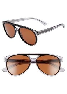 Salvatore Ferragamo 57mm Aviator Sunglasses