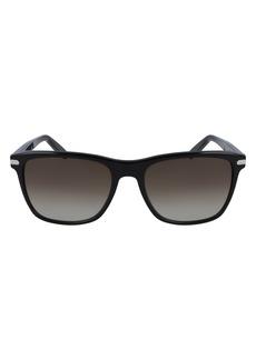 Salvatore Ferragamo 57mm Gradient Rectangle Sunglasses