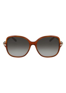 Salvatore Ferragamo 57mm Gradient Rounded Square Sunglasses