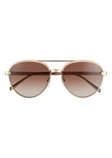 Salvatore Ferragamo 59mm Gradient Aviator Sunglasses