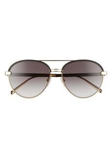 Salvatore Ferragamo 59mm Gradient Aviator Sunglasses