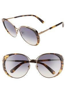 Salvatore Ferragamo 60mm Gradient Cat Eye Sunglasses