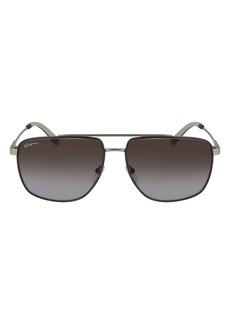 Salvatore Ferragamo 60mm Gradient Navigator Sunglasses