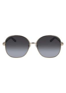 Salvatore Ferragamo 60mm Gradient Round Sunglasses