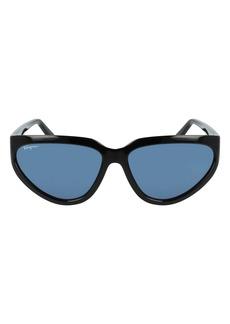 Salvatore Ferragamo 60mm Modified Cat Eye Sunglasses